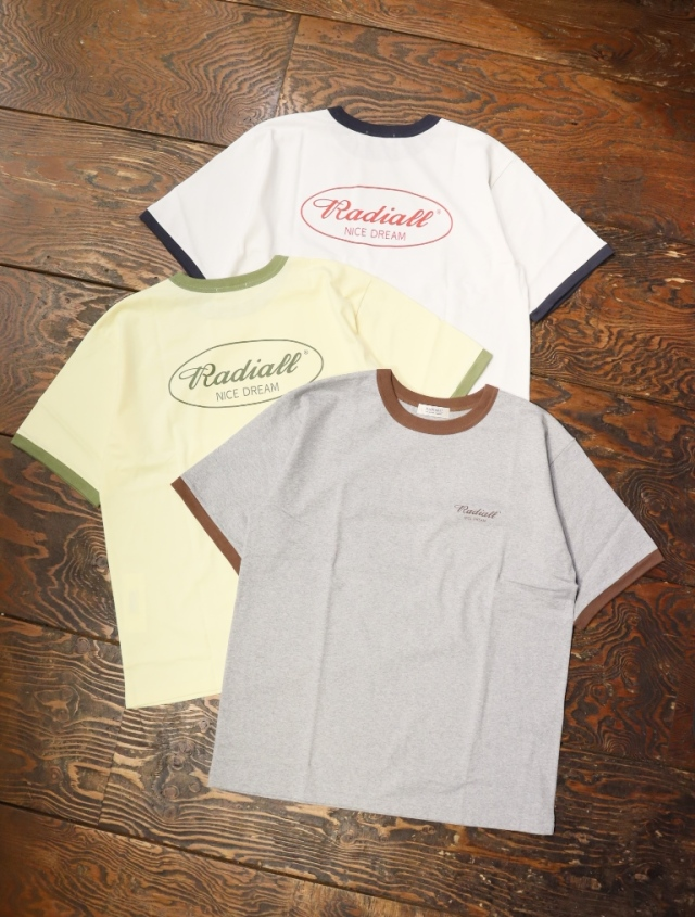 RADIALL  「OVAL - CREW NECK T-SHIRT S/S」  リンガーティーシャツ