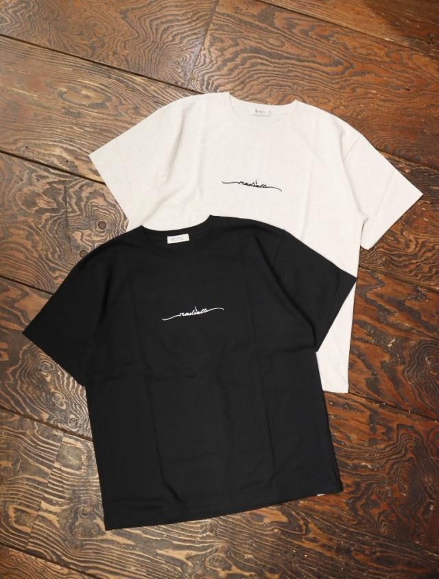 RADIALL  「LO-N-SLO - CREW NECK T-SHIRT S/S」  クルーネック刺繍ティーシャツ