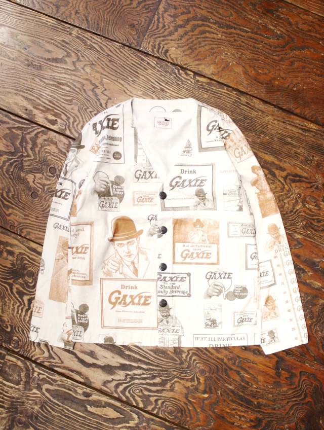 GANGSTERVILLE  「GAXIE - L/S SHIRTS」  ノーカラーシャツジャケット