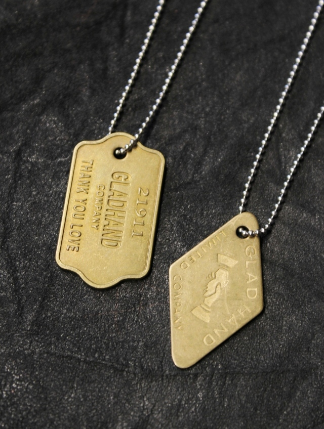 GLAD HAND   「 GH TAG - NECKLACE 」  ネックレス