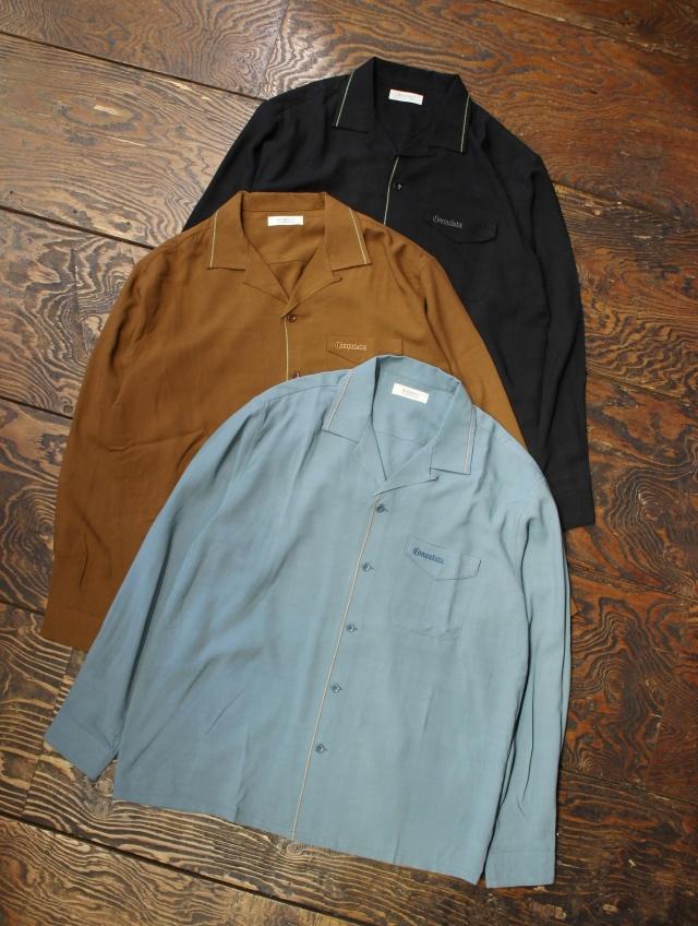 RADIALL  「CONQUISTA - OPEN COLLARED SHIRT L/S」  オープンカラー レーヨンシャツ