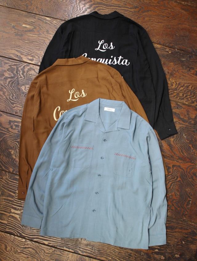 RADIALL  「VAHJON - OPEN COLLARED SHIRT L/S」  オープンカラー レーヨンシャツ