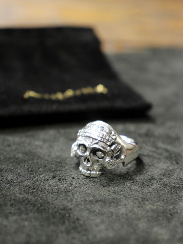 ANTIDOTE BUYERS CLUB by Cootie Productions  「Tibetan Skull Ring 」 SILVER950製 チベタンスカルリング