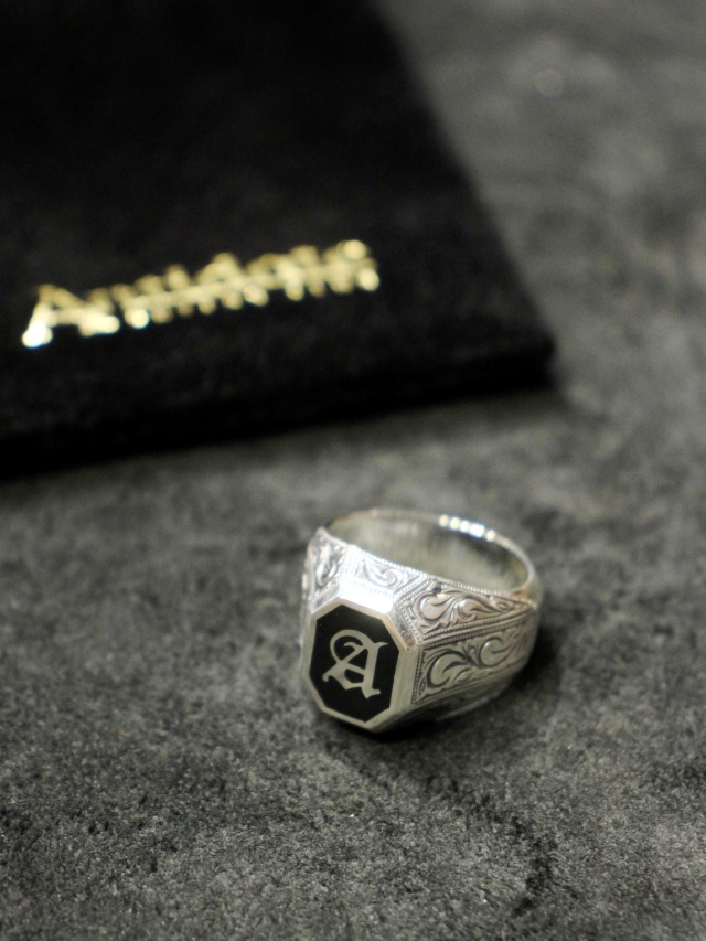 ANTIDOTE BUYERS CLUB   「Engraved College Ring 」 SILVER950製 カレッジリング