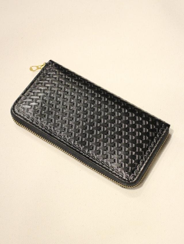 DEXTER  「 Embossing Leather Round Zip Long Wallet」  レザーロングウォレット