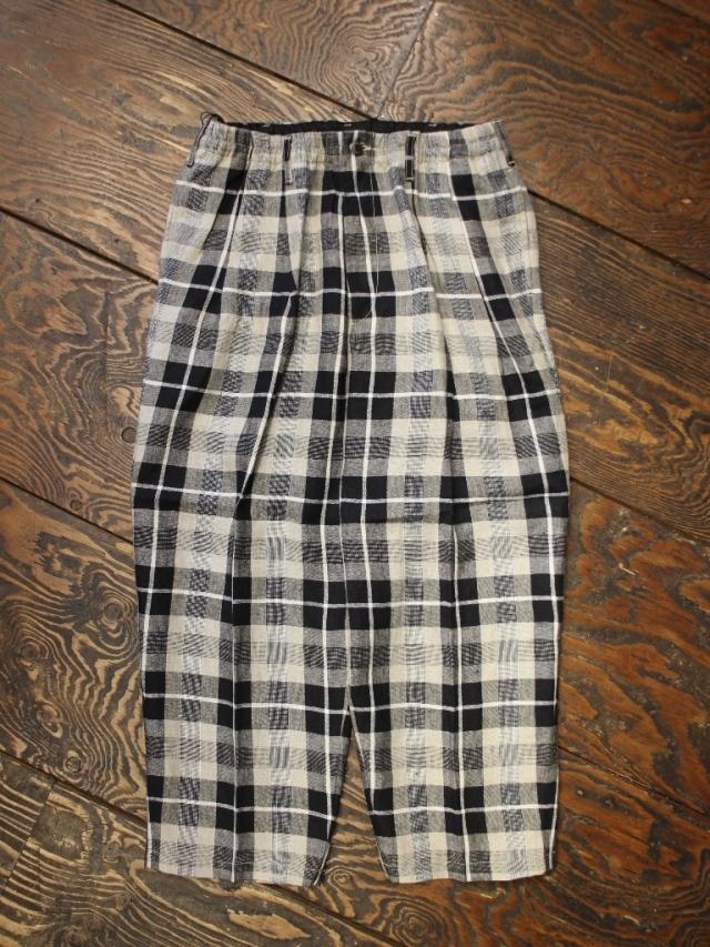 COOTIE  「Linen Check 2 Tuck Easy Pants」 2タック リネンチェック イージーパンツ