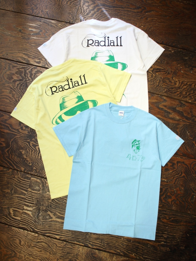 RADIALL × 4D7S   「JOINT - CREW NECK T-SHIRT S/S」 プリントティーシャツ