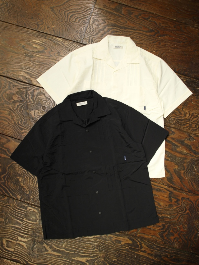 RADIALL  「LOCO - OPEN COLLARED SHIRT S/S」  ナイロンキューバシャツ