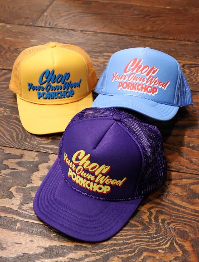 PORKCHOP GARAGE SUPPLY   「CHOP YOUR OWN WOOD CAP」  メッシュキャップ