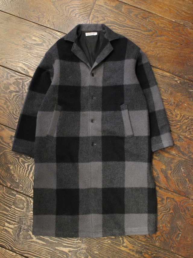 COOTIE  「 Napping Buffalo Check Shop Coat 」 ウールショップコート