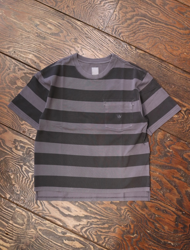 Liberaiders  「 OVERDYED STRIPED TEE 」 ボーダーティーシャツ
