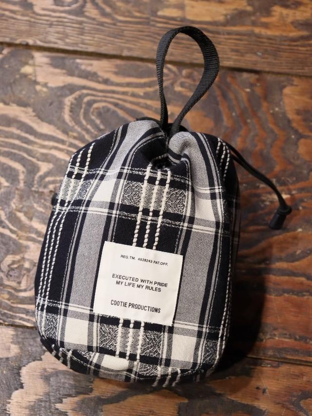 COOTIE   「 Jacquard Check Drawstring Bag 」  ドローストリングバッグ
