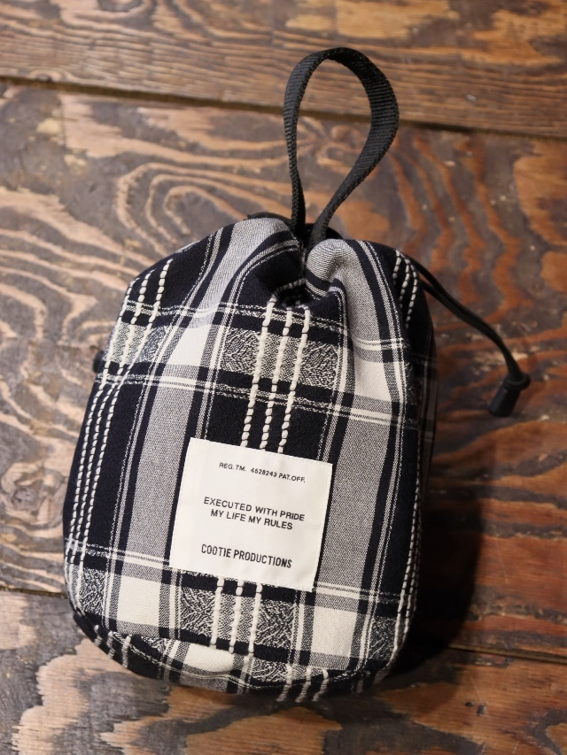 COOTIE   「 Jacquard Check Drawstring Bag 」  ドローストリングバッグ