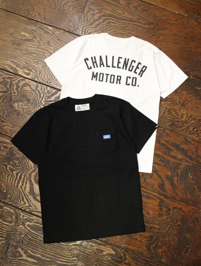 CHALLENGER  「MOTOR CO. TEE」 プリントポケットティーシャツ
