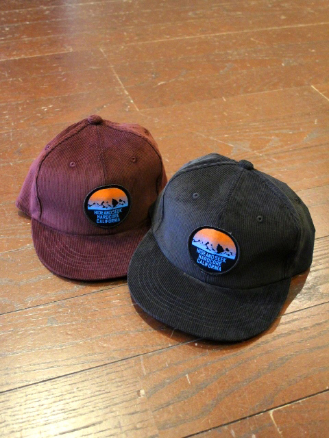 HIDEANDSEEK 「Mountain Cord CAP」 コーデュロイキャップ