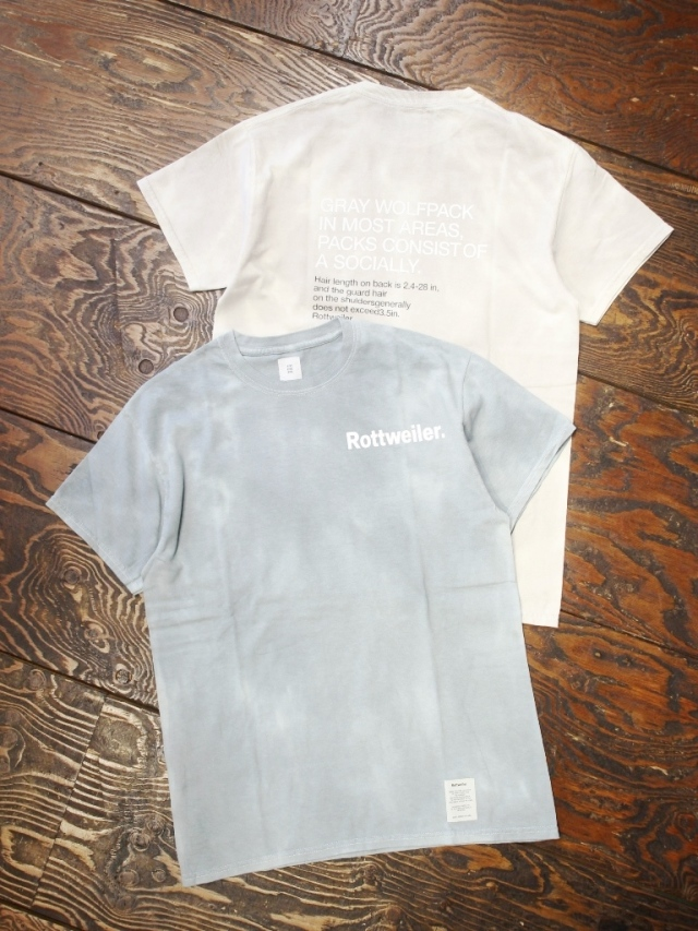 ROTTWEILER   「 Dyed Cut off Tee  」   プリントティーシャツ