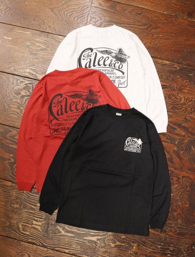 【Limited Item !!】 CALEE  「SIGN BOARD PAINT L/S T-SHIRT」  プリントロンティー