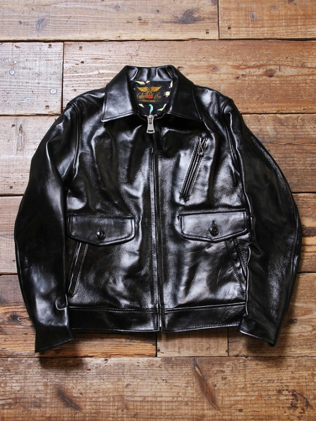 CALEE × MASH UP   「 HORSE HIDE LEATHER JACKET」 ホースハイドレザージャケット