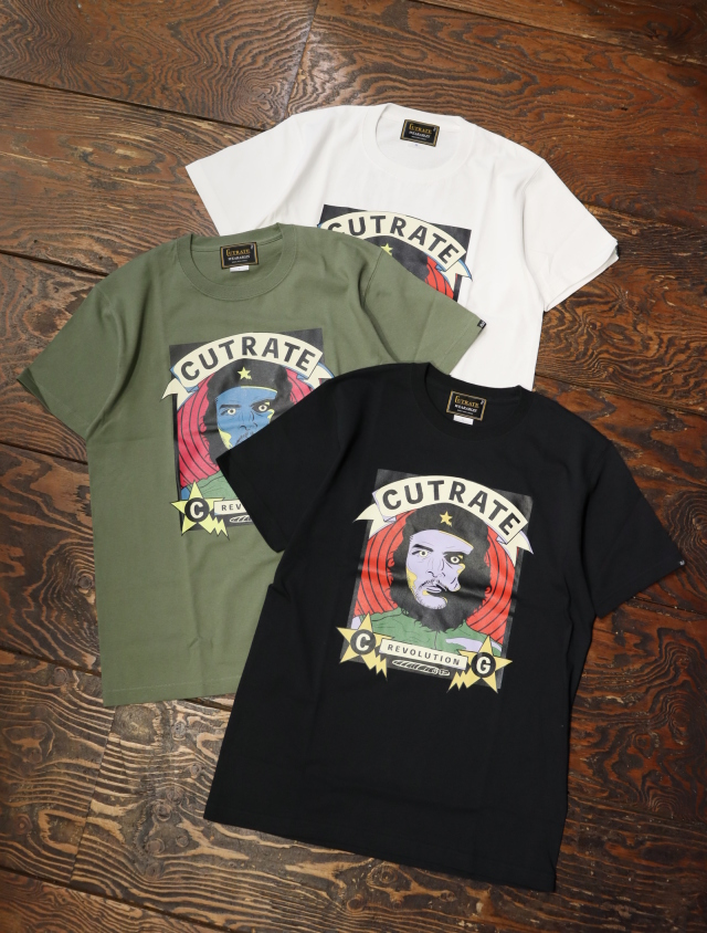 CUT RATE  「HASKY CHE S/S T‐SHIRT」 プリントティーシャツ