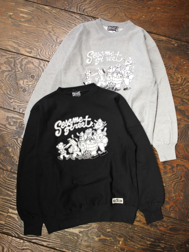 CUT RATE  「SESAME STREET CREW SWEAT」 クルーネックスウェット