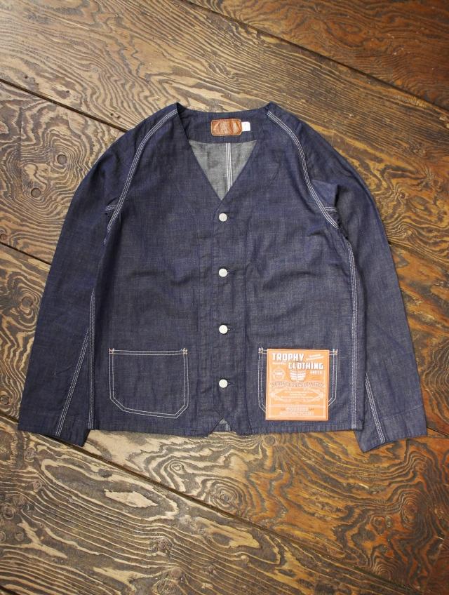 TROPHY CLOTHING  「Round House Engineer Jacket」  ノーカラーデニム エンジニアジャケット