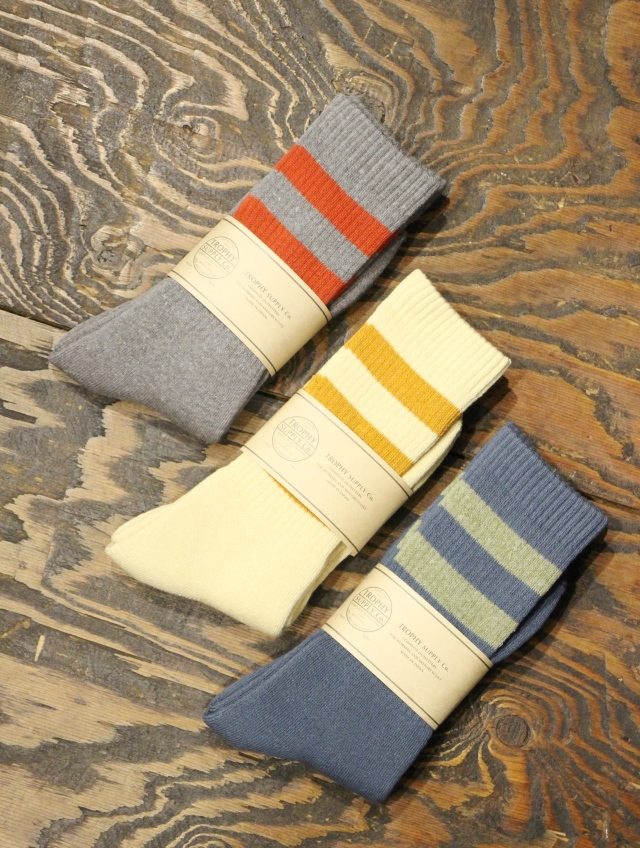 TROPHY CLOTHING  「3Border Boots Socks 」  ブーツソックス