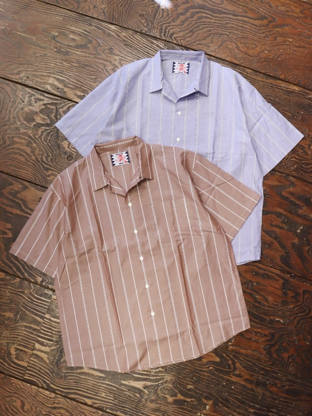 SON OF THE CHEESE  「 Simple Stripe Shirt 」 オープンカラーシャツ
