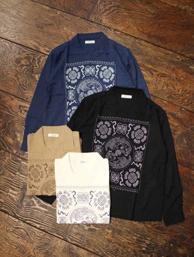 RADIALL  「TEMPLE - OPEN COLLARED SHIRT L/S」  オープンカラー レーヨンシャツ