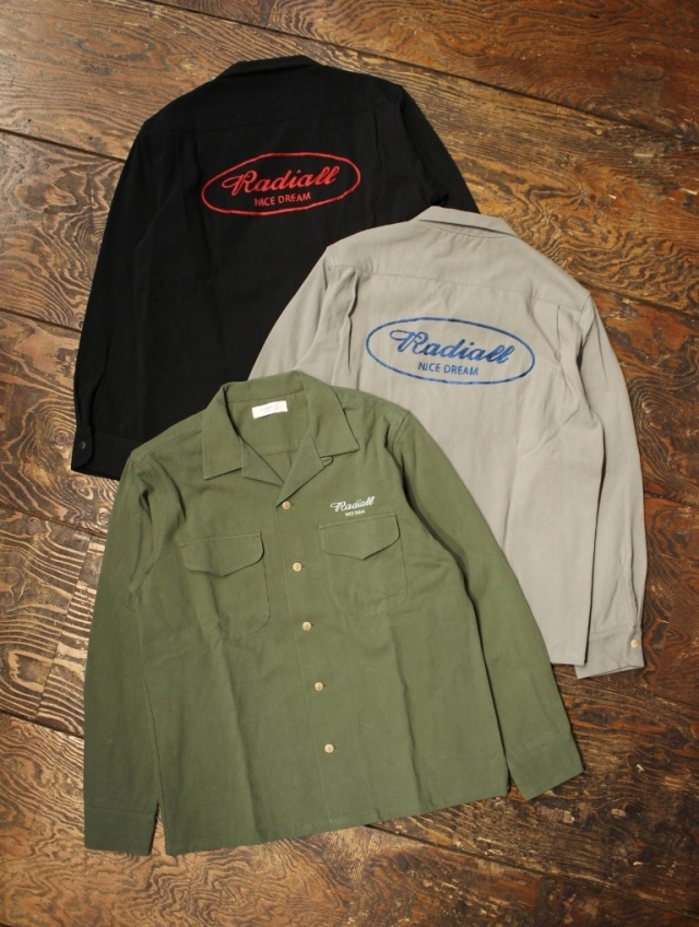 RADIALL  「ROAD SIDE - OPEN COLLARED SHIRT L/S」  オープンカラー シャツ