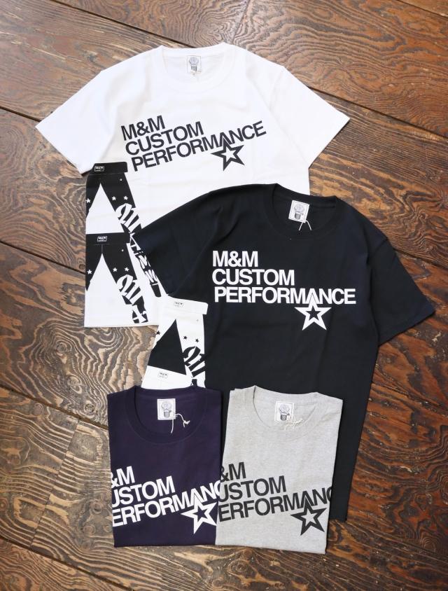【 4月22日発売!】 M&M CUSTOM PERFORMANCE   「 PRINT S/S T-SHIRT 」 プリントティーシャツ