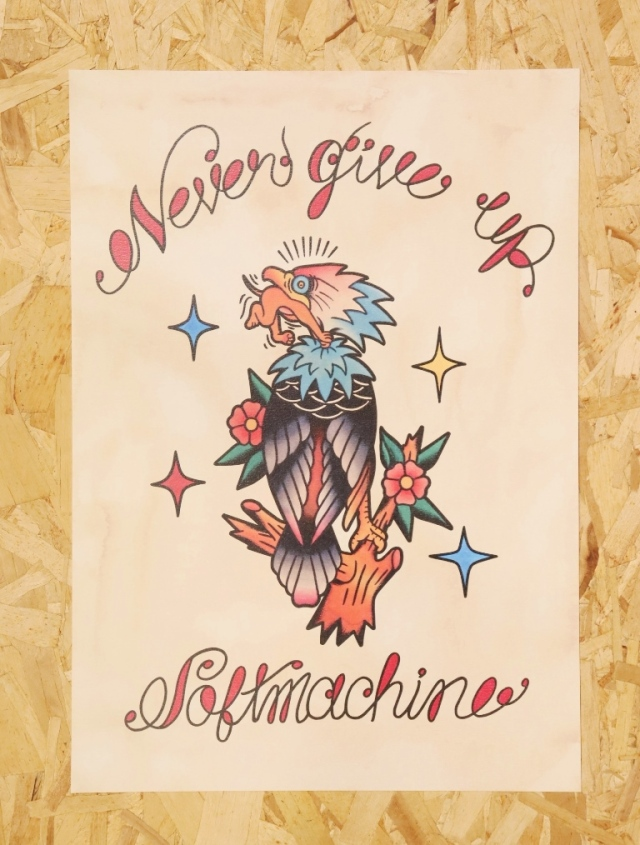 SOFTMACHINE  「NEVER GIVE UP FLASH」 A3サイズ ポスター