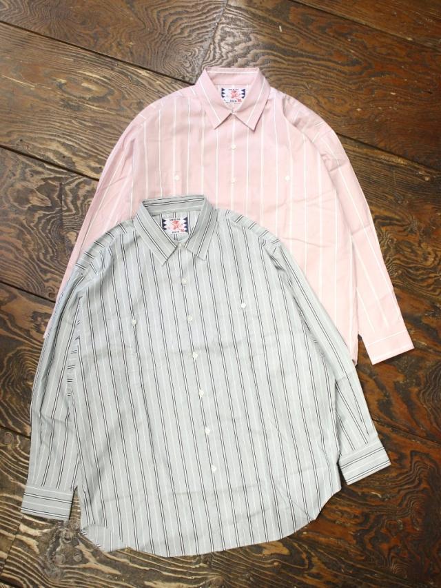 SON OF THE CHEESE  「Stripe Big Shirt」 ストライプビッグシャツ