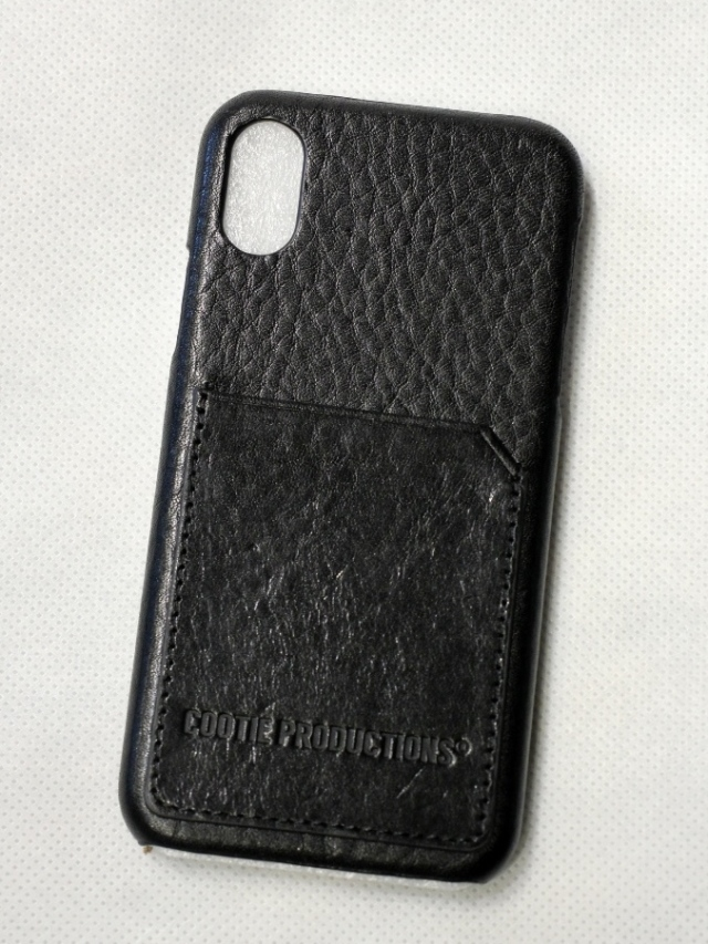 COOTIE    「 Leather I Phone Case (Card Case) X/XS」 レザー カード&iPhone ケース X/XS用