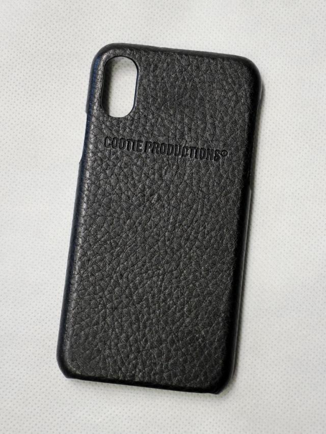 COOTIE    「 Leather I Phone Case X/XS」 レザー iPhone ケース X/XS用