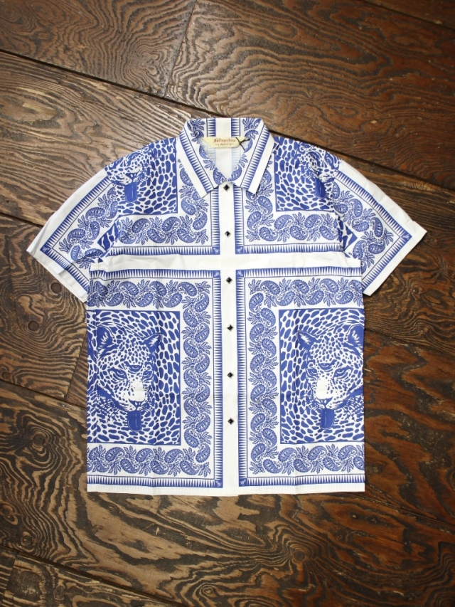 SOFTMACHINE  「BLEND BANDANA SHIRTS S/S」 バンダナパターンシャツ