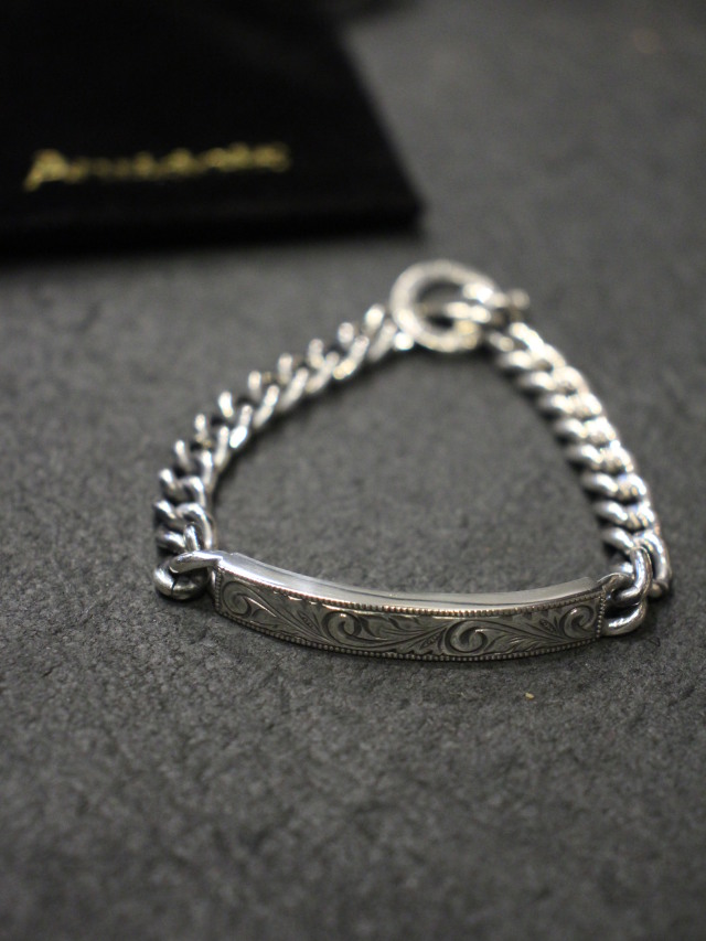 ANTIDOTE BUYERS CLUB by Cootie Productions   「 Engraved ID Bracelet 」 SILVER950製 ブレスレット