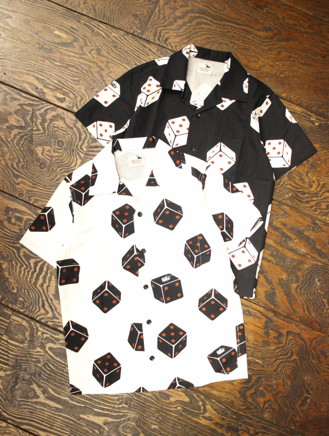 GANGSTERVILLE   「TUMBLING DICE - S/S SHIRTS」   オープンカラー シャツ