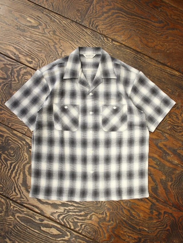 COOTIE  「Ombre Check Open-Neck S/S Shirt」 オープンカラー オンブレーチェックシャツ