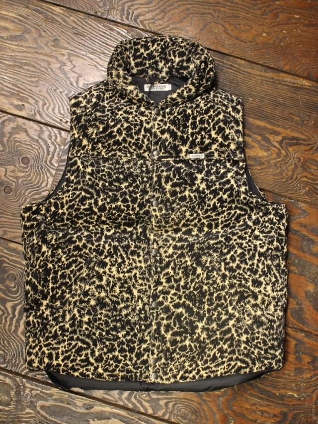 COOTIE  「  Corduroy Leopard Oversized Down Vest 」 ダウンベスト