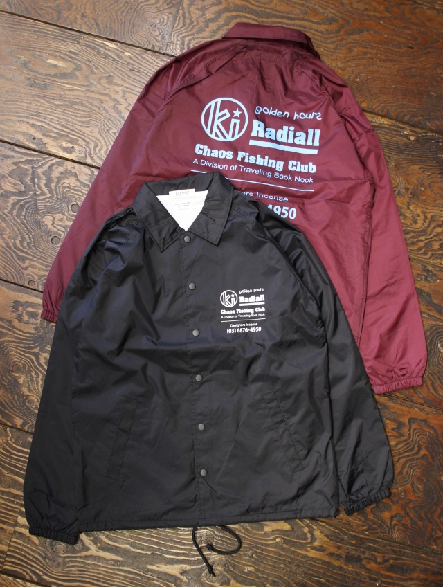RADIALL × CHAOS FINSHING CLUB × KUUMBA   「GOLDEN HOURS - WINDBREAKER JACKET」 コーチジャケット