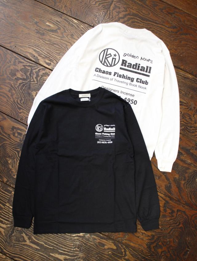 RADIALL × CHAOS FINSHING CLUB × KUUMBA     「GOLDEN HOURS - CREW NECK T-SHIRT L/S」 ロングスリーブティーシャツ
