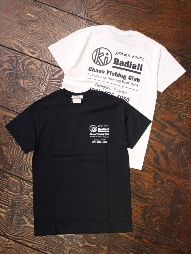 RADIALL × CHAOS FINSHING CLUB × KUUMBA     「GOLDEN HOURS - CREW NECK T-SHIRT S/S」 プリントティーシャツ