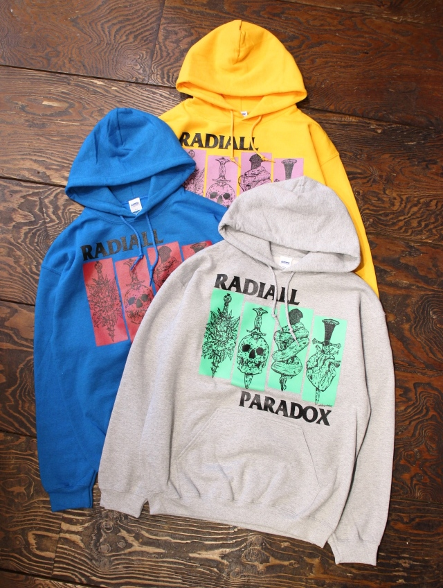 RADIALL × PARADOX 「SST - HOODIE SWEATSHIRT L/S」 プルオーバーパーカー