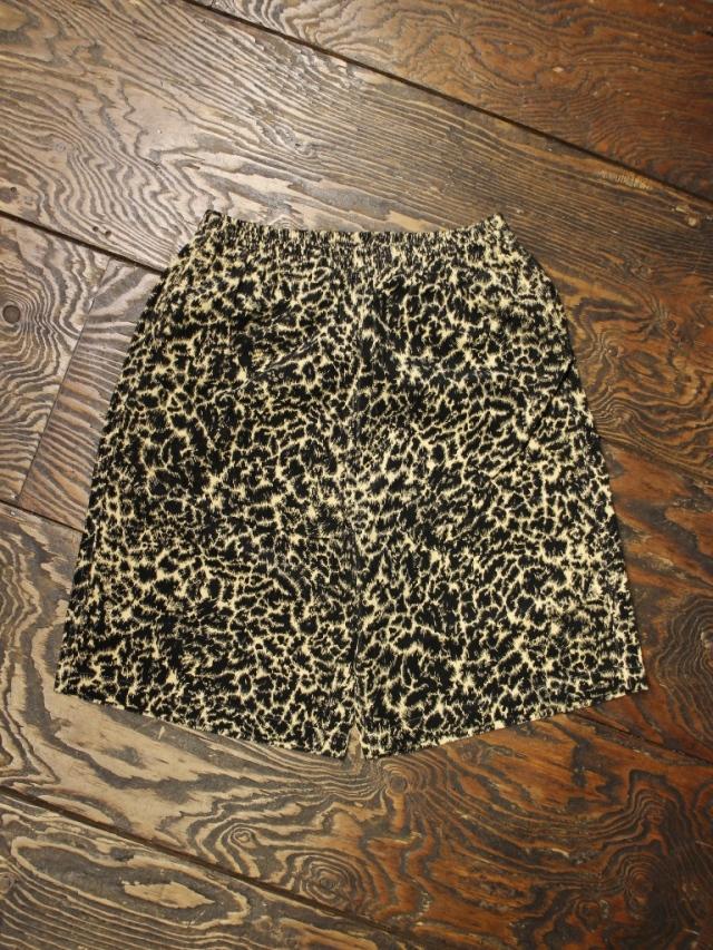 COOTIE  「Corduroy Leopard Easy Shorts」 コーデュロイレオパードイージーショーツ