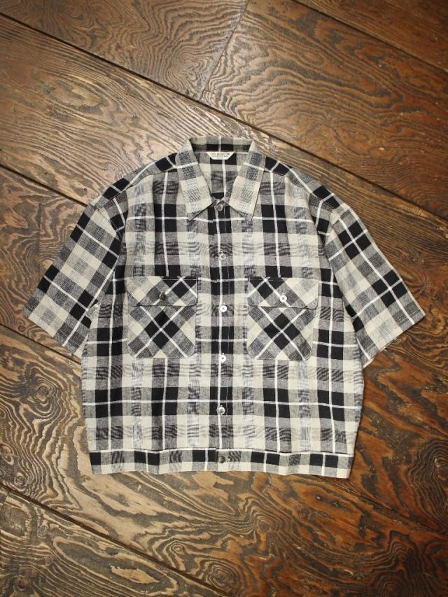 COOTIE  「Linen Check Work S/S Shirt」 リネンチェックワークシャツ