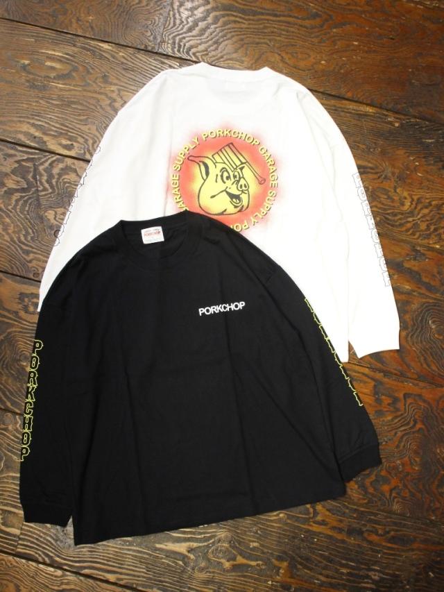 PORKCHOP GARAGE SUPPLY   「 OLD PORK L/S TEE 」  ロングスリーブティーシャツ