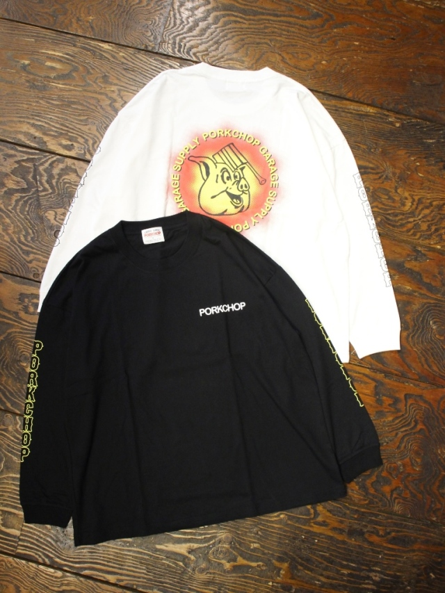 PORKCHOP GARAGE SUPPLY   「 OLD PORK L/S TEE 」  ロングスリーブティーシャツ