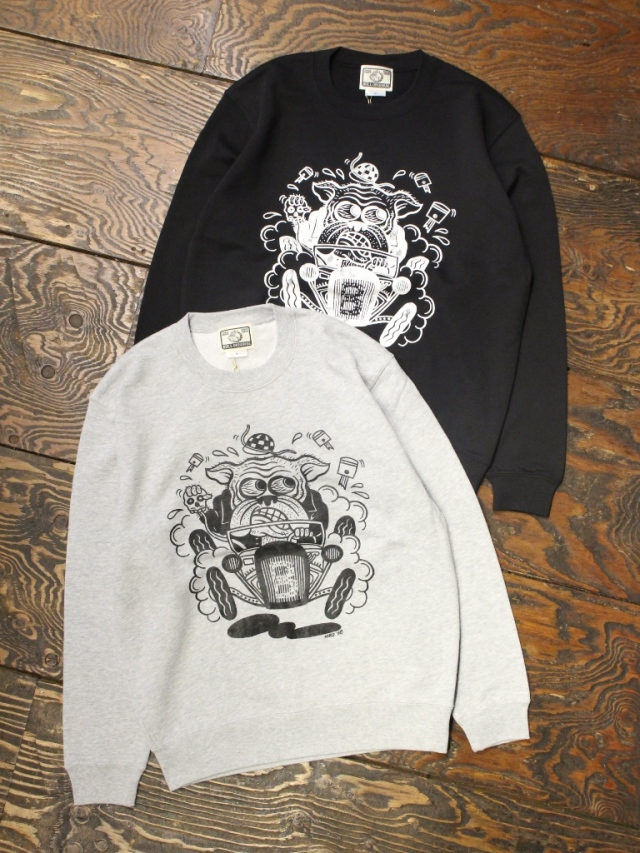 BULL ORIGINAL× COTTON PICKIN TATTOO   「COTTON PICKIN SWEAT」  クルーネックスウェット