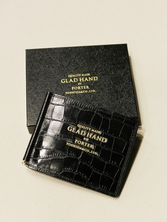 PORTER × GLAD HAND  「GH - BELONGINGS MONEY CLIP」  レザーマネークリップ