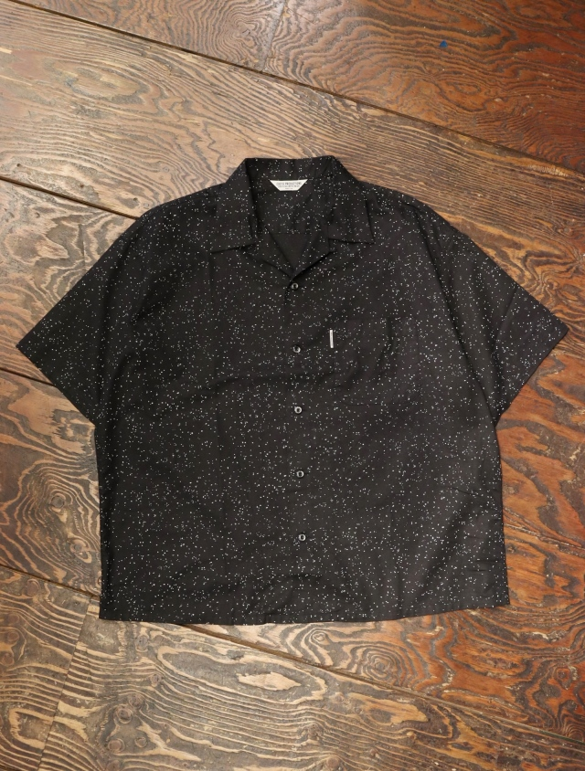 COOTIE  「 Splatter Open-Neck S/S Shirt 」 オープンカラーシャツ